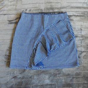 Topshop Blue & White Skirt